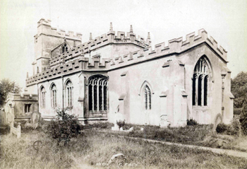 Totternhoe church from the south-east about 1900 [X325-146-11]